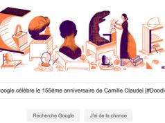 Google célèbre le 155ème anniversaire de Camille Claudel [#Doodle]