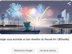 Google vous souhaite un bon réveillon du Nouvel An 2019 ! [#Doodle]