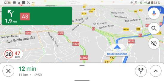 Google Maps affiche enfin les limitations de vitesse