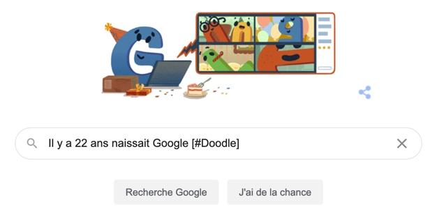 Il y a 22 ans naissait Google [#Doodle]