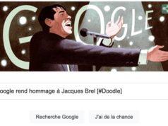 Google rend hommage à Jacques Brel