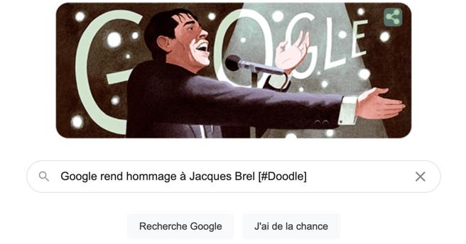 Le concert d'adieux de Jacques Brel à Bruxelles — Doodle du jour