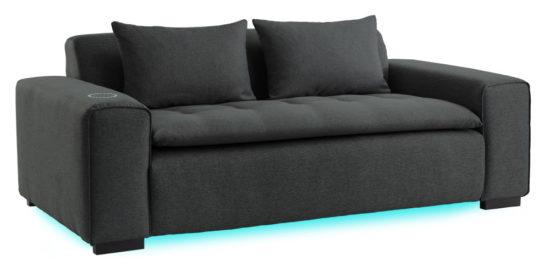 Le canapé connecté Miliboo est dispo chez Fnac / Darty