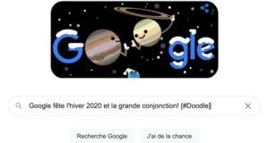 Google fête l'hiver 2020 et la grande conjonction! [#Doodle]