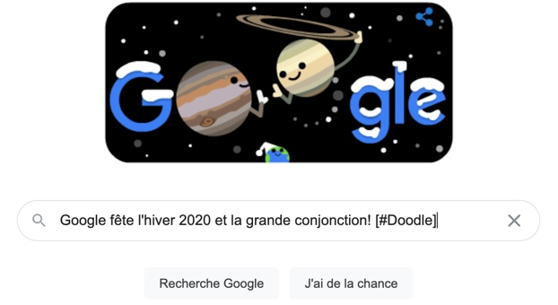 Qu'est-ce que la Grande conjonction — Google Doodle