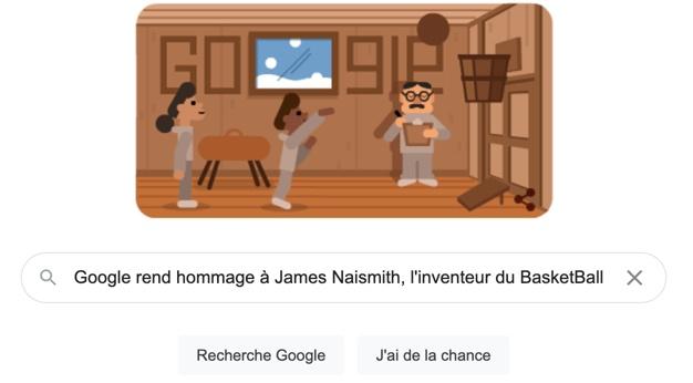 Google rend hommage à James Naismith, l'inventeur du BasketBall [#Doodle]