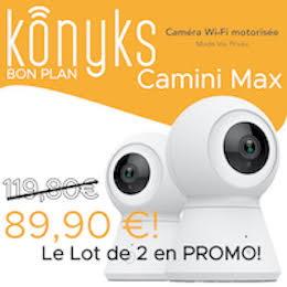 Konyks : le pack de 2 caméras Camini Max à moins de 90€