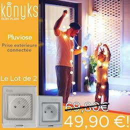 Konyks : le pack de 2 prises extérieures Pluviose à moins de 50€