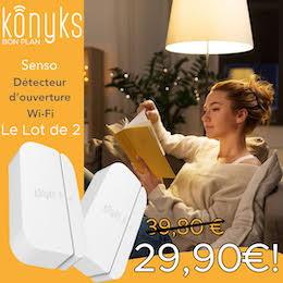 Konyks : le pack de 2 détecteurs d'ouverture à moins de 30€