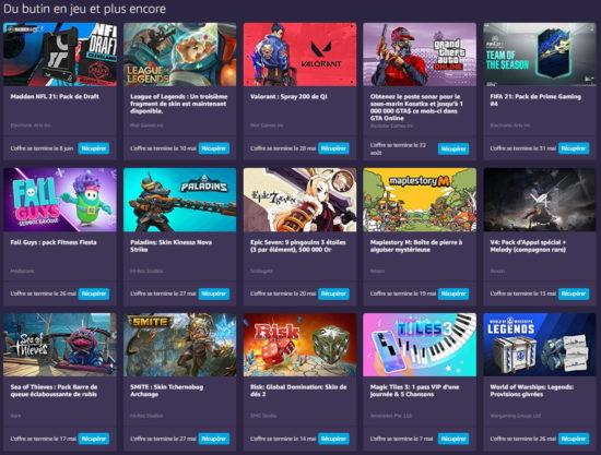 Amazon Prime Gaming : les jeux gratuits de mai 2021