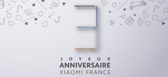 Xiaomi propose des réductions pour ses 3 ans en France
