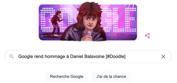 Google rend hommage à Daniel Balavoine [#Doodle]
