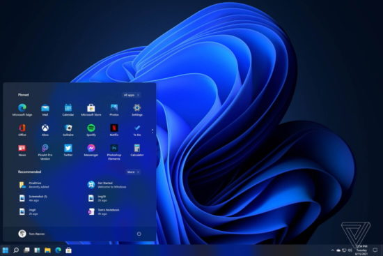 L'interface de Windows 11 a fuité sur le web