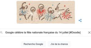 Google célèbre la fête nationale française du 14 juillet [#Doodle]